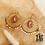 Thumbnail: Boucles d'oreilles Liv (acier chirurgical plaqué or et pierre fine)