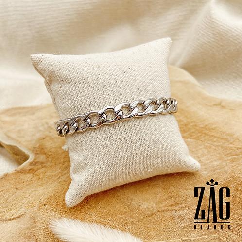 Bracelet Angèle (acier chirurgical plaqué or gris)