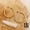 Thumbnail: Dremi-créoles Haize (acier chirurgical plaqué or)