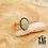 Thumbnail: Bague Beetle (acier chirurgical plaqué or et pierre fine)