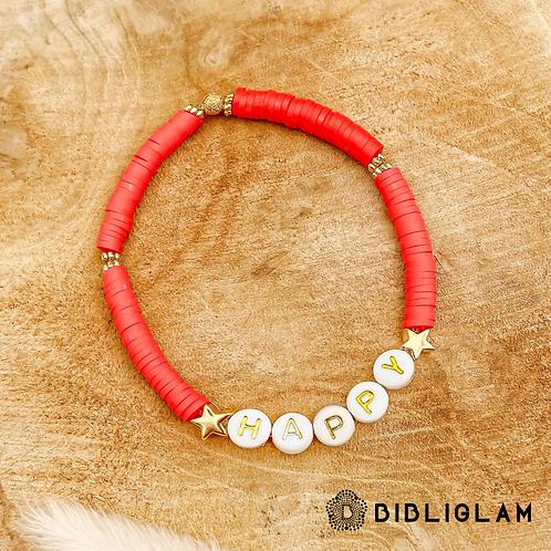 Bracelet Happy (perles de polymères)
