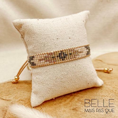 Bracelet Athéna (perles de miyuki & nylon ciré)