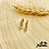 Thumbnail: Boucles d'oreilles Christ (plaqué or & oxydes de zirconium)