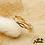 Thumbnail: Bague Margaux (plaqué or et oxydes de zirconium)