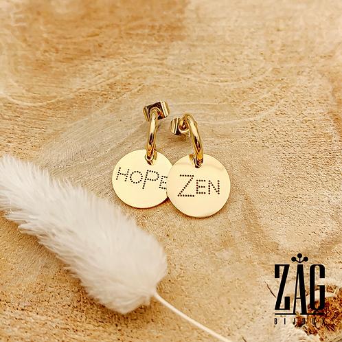 Boucles d'oreilles Zen (acier chirurgical plaqué or)