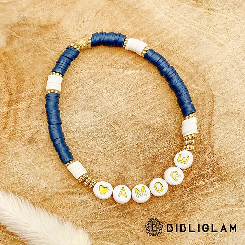 Bracelet Amore (perles de polymère)