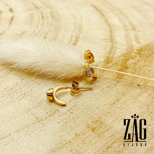 Boucles d'oreilles Luan (acier chirurgical plaqué or)