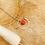 Thumbnail: Collier Îlot (acier chirurgical plaqué or gris & agate tintée)
