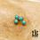 Thumbnail: Boucles d'oreilles Arizona (acier chirurgical plaqué or)
