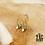 Thumbnail: Boucles d'oreilles Constellation & Pierre (acier chirurgical plaqué or)