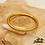 Thumbnail: Jonc bouddhiste Dawa (plastique recyclé doré rempli de feuilles d'or)