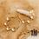 Thumbnail: Demi-créoles Pérola (acier chirurgical plaqué or)