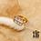 Thumbnail: Bague Perfect (acier chirurgical plaqué or & pierre fine)