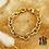 Thumbnail: Bracelet Hermine (acier chirurgical plaqué or)