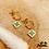 Thumbnail: Boucles d'oreilles Lilya (acier chirurgical plaqué or)