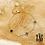 Thumbnail: Bracelet Elea de couleurs (acier chirurgical plaqué or )