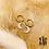 Thumbnail: Boucles d'oreilles Sparkle Moon (acier chirurgical plaqué or)