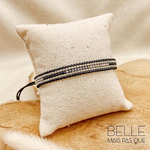 Bracelet Amallia (perles de miyuki & nylon ciré)