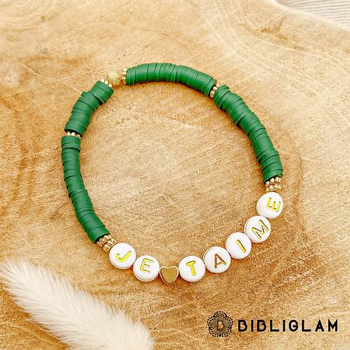 Bracelet Je t'aime (perles de polymère)