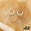 Thumbnail: Mono boucle Handcuffs Blink (argent & oxydes de zirconium)