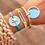 Thumbnail: Bracelet Camilia (cordon bleu turquoise et métal argenté)