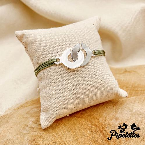 Bracelet cordon personnalisable Cuffs (argent & plaqué or)