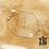 Thumbnail: Bracelet Kenza (acier chirurgical plaqué or gris)