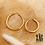 Thumbnail: Créoles Lexie 2 tailles (acier chirurgical plaqué or)