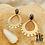 Thumbnail: Boucles d'oreilles Ethnic (acier chirurgical plaqué or)