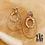Thumbnail: Boucles d'oreilles Catalina (acier chirurgical plaqué or)