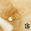 Thumbnail: Bague Lya (acier chirurgical plaqué or)