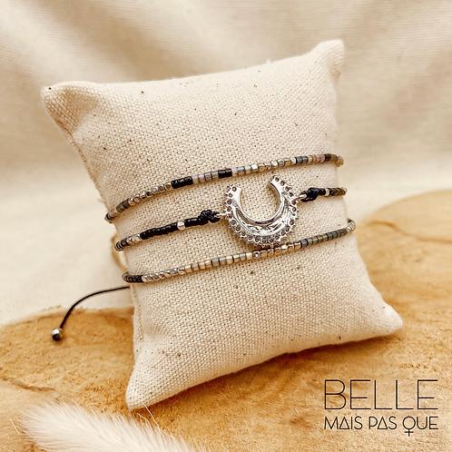 Bracelet Lorraina (perles de miyuki & nylon ciré)