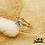 Thumbnail: Bague Arya (plaqué or et oxydes de zirconium)