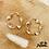 Thumbnail: Boucles d'oreilles Roller Coaster (plaqué or)