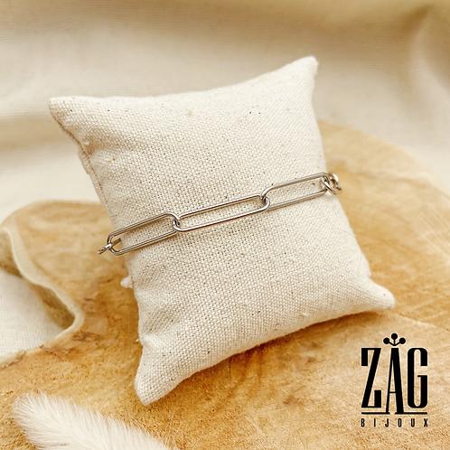 Bracelet Gabriella (acier chirurgical plaqué or gris)