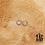 Thumbnail: Créoles Riquicuscule (acier chirurgical plaqué or gris)