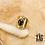 Thumbnail: Bague Stephellya (acier chirurgical plaqué or & pierre fine)