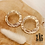 Thumbnail: Boucles d'oreilles Justine (acier chirurgical plaqué or)