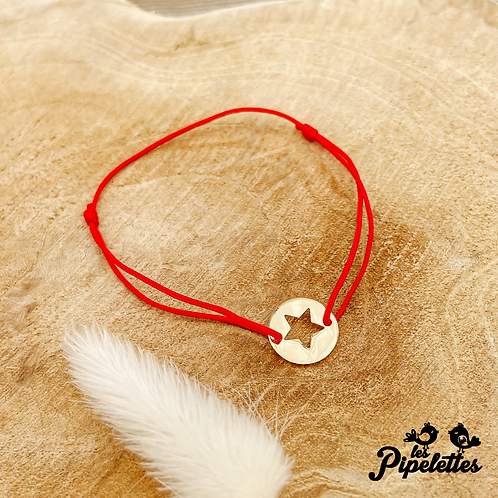 Bracelet Little Star cordon personnalisable (plaqué or)