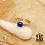 Thumbnail: Bague Zelda pierres semi précieuses (acier chirurgical plaqué or)