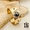 Thumbnail: Demi jonc Maya (acier chirurgical plaqué or)
