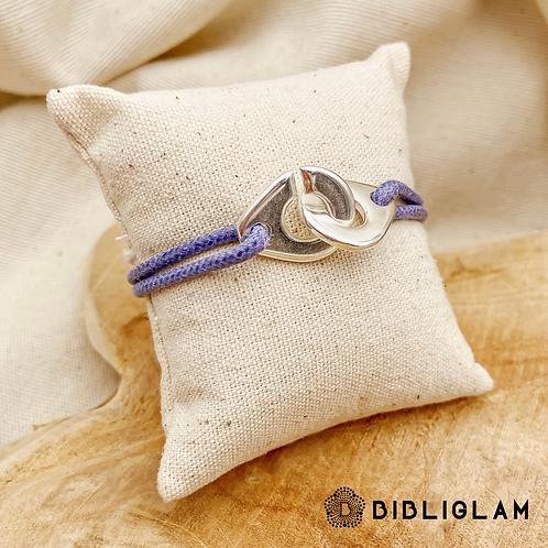 Bracelet Cuffs cordon personnalisable  (métal argenté)