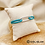 Thumbnail: Bracelet Iliona cordon turquoise (métal argenté)