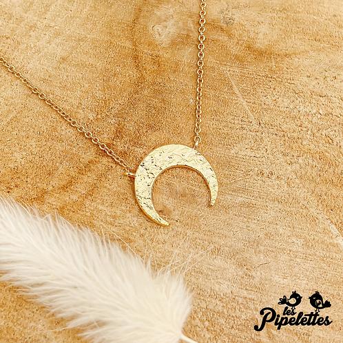 Collier Moon (plaqué or)