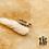 Thumbnail: Bague Tresse (acier chirurgical plaqué or gris)