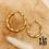 Thumbnail: Créoles Olivia 2 tailles (acier chirurgical plaqué or)