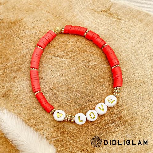 Bracelet Love (perles de polymère)