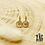 Thumbnail: Boucles d'oreilles Lisa (acier chirurgical plaqué or)