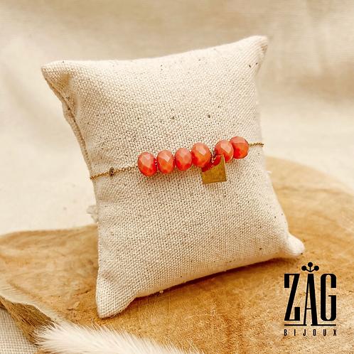 Bracelet Zoé (acier chirurgical plaqué or)