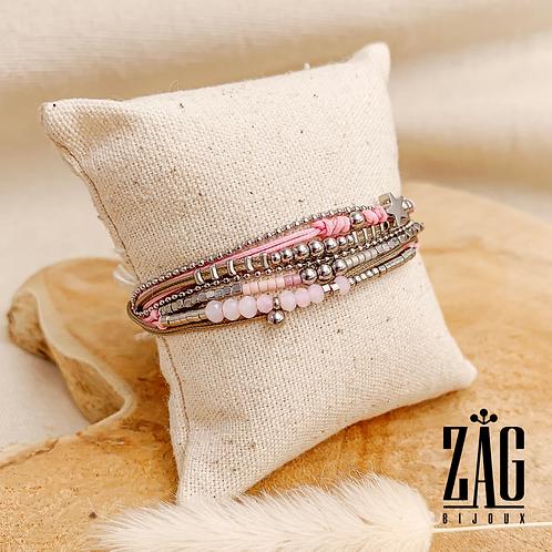 Bracelet Carlotta (acier chirurgical plaqué or & pierre fine)